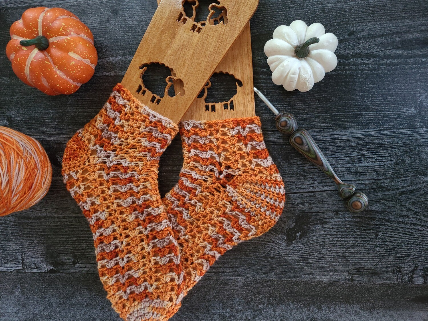 Autumn Socks Crochet Kit