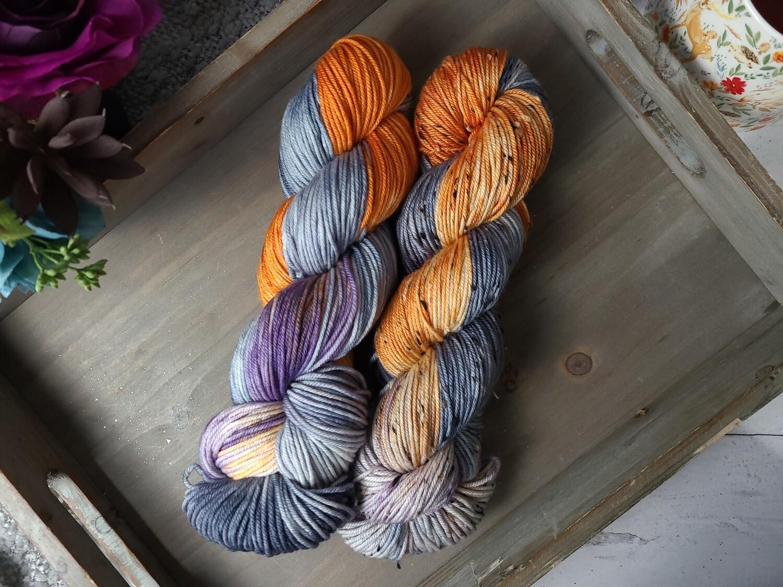 Midnight Flight Hand Dyed Yarn