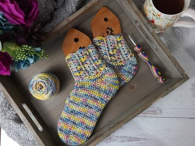 Rainbow Socks Crochet Kit