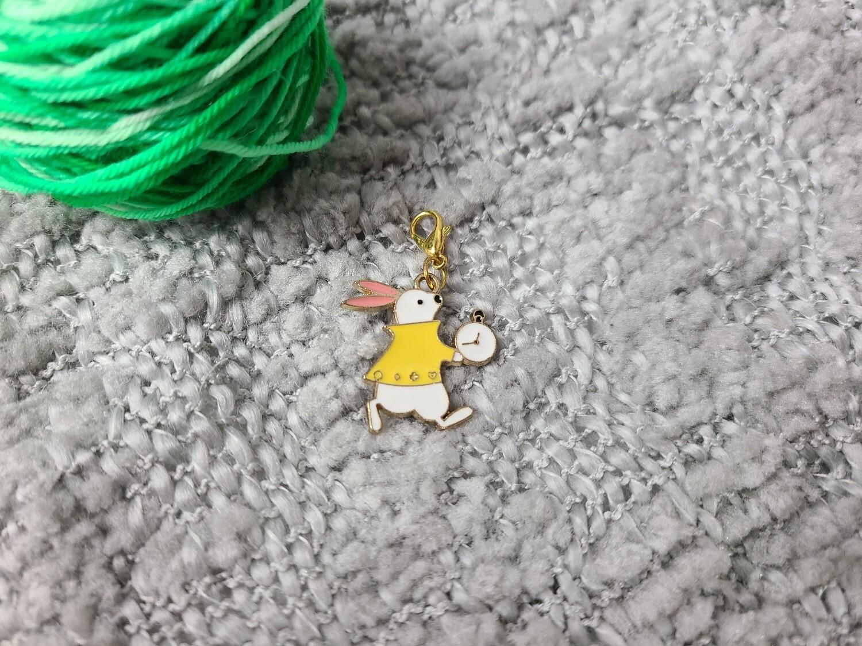 Alice in Wonderland the White Rabbit Stitch Marker
