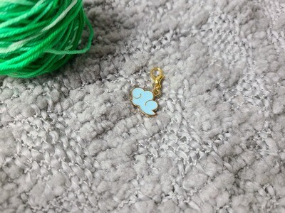 Blue Rain Cloud Stitch Marker