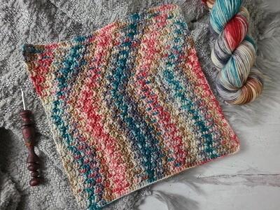 Square #2 London Crochet Square (Destination Blanket)