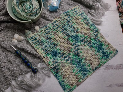 Square #9 Fiji Crochet Square (Destination Blanket)