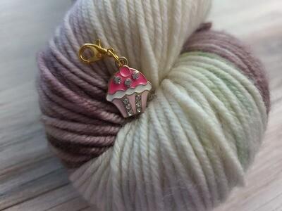 Pink Cupcake Stitch Marker