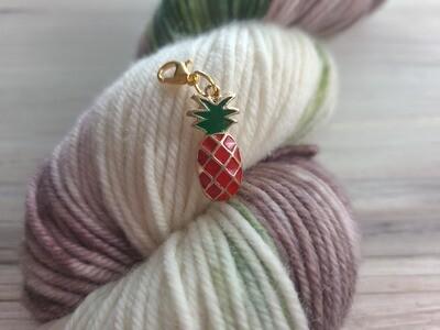 Red Pineapple Stitch Marker