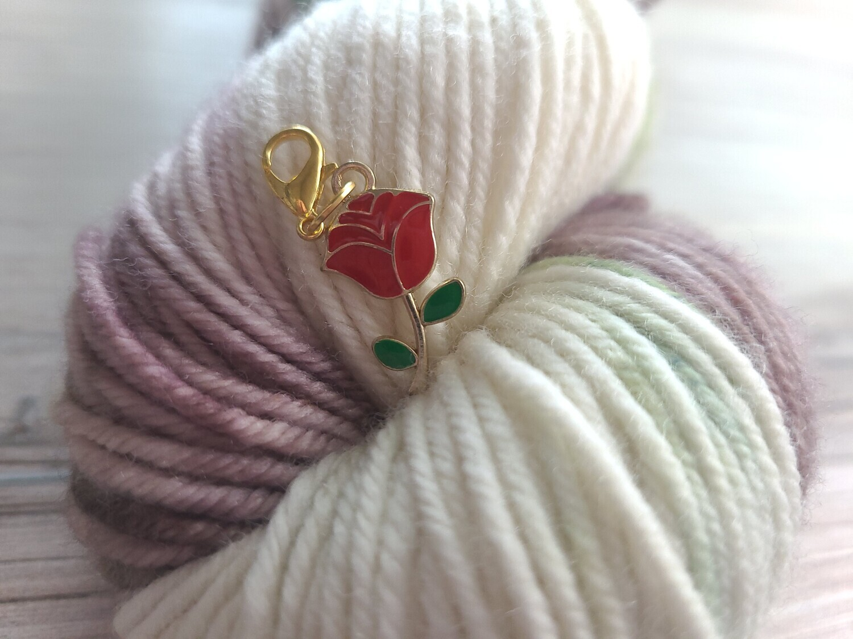 Red Rose Stitch Marker
