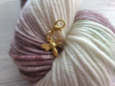 Gold Bee Stitch Marker