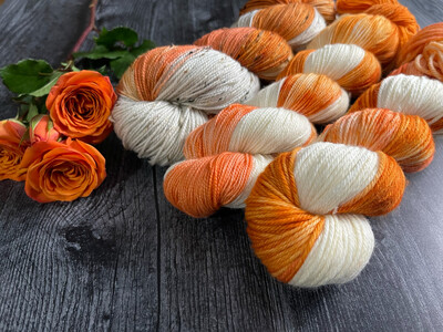Pumpkin Spice Hand Dyed Yarn - It's Fall Ya'll Collection