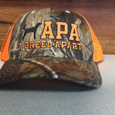 Orange mesh back hat