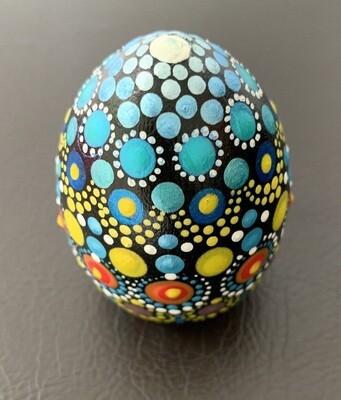 Mandala Egg-Shaped Wood Keepsake