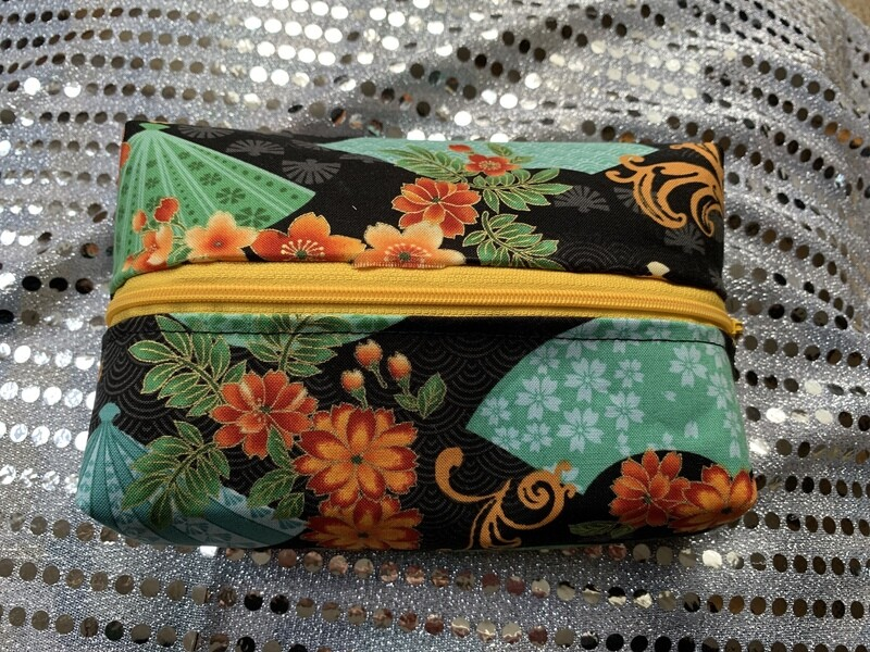 Zipper Box Pouch Small - Japanese Fans Theme