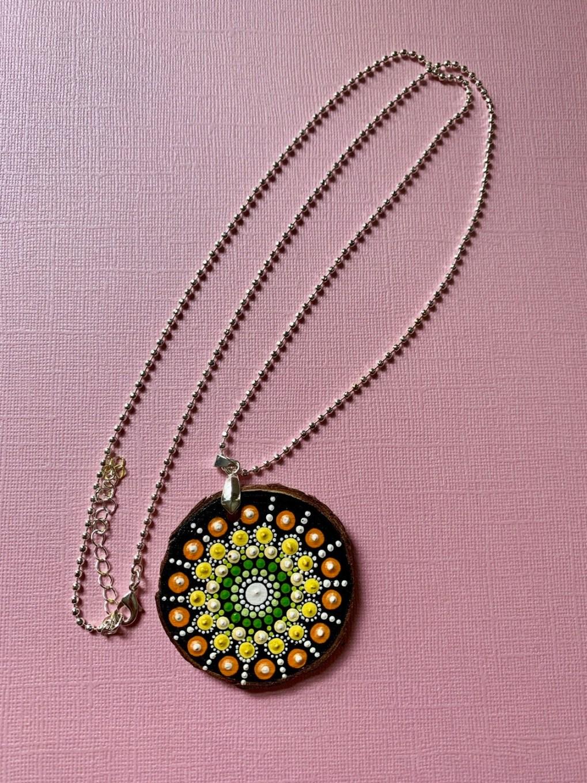 Necklace Dot Mandala Long Chain
