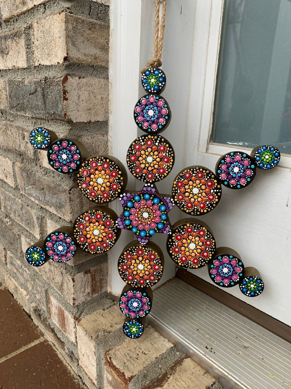 Stunning Star Home Decor Dot Mandala Art