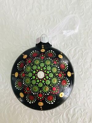 Red and Green Joyful Christmas Ornament