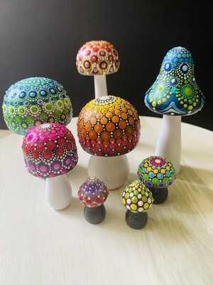 Mushroom Mandalas - Set of 8
