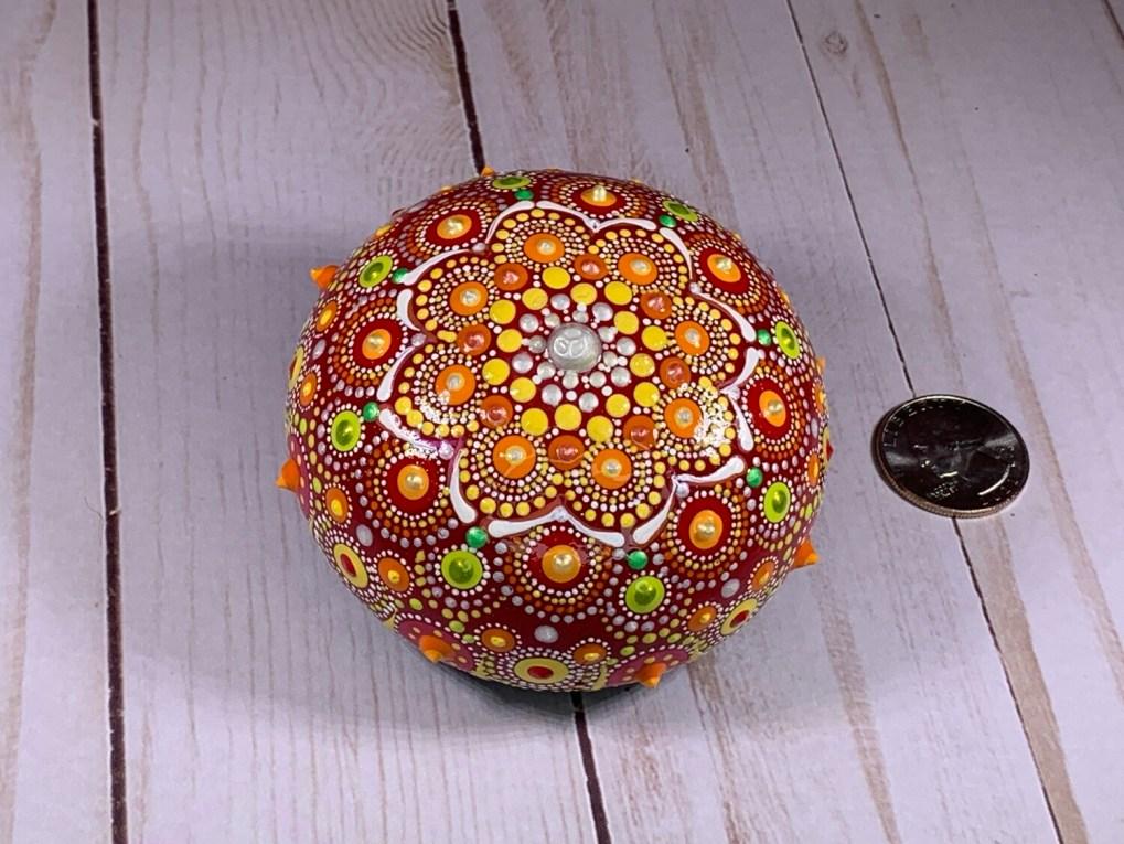 Bright Mandala Art on Rock
