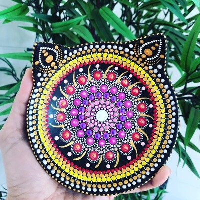 Little Kitty Mandala Trinket Plate