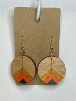 Wooden Retro Circle Drop