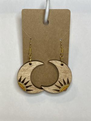 Crescent Moon Natural Wood