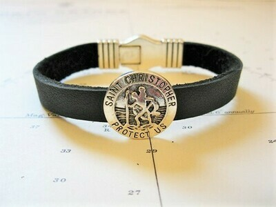 Lucky travel bracelet ~ St Christopher