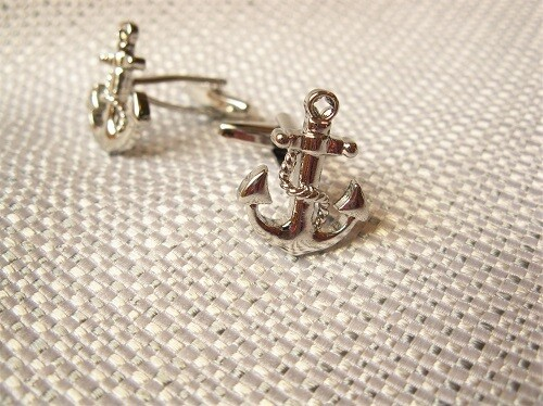 Anchor cufflinks - Gift to say Have Fun, Be Strong