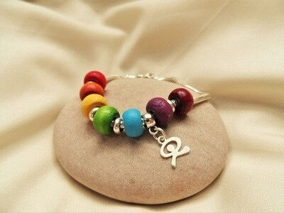 Indalo bracelet ~  Rainbow of Hope