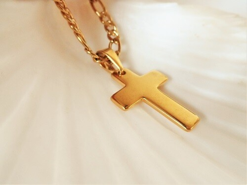 Golden cross of hope necklace