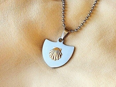 Health-shield necklace with shell
