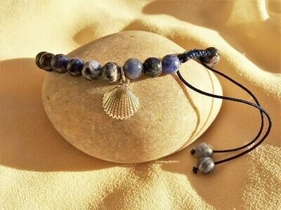 Camino shell travel bracelet - Sodalite