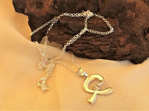 Indalo Man necklace ~  smooth, silver + zirconite
