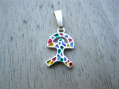 Indalo pendant ~ classic, silver + enamel small