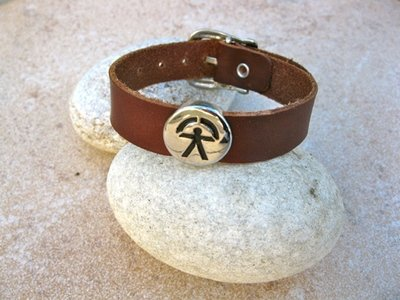 Indalo bracelet ~ leather strap, for ambitions of health and success
