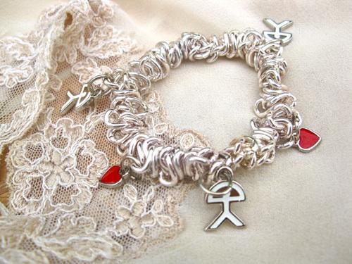 Love charm bracelet ~ cassandra