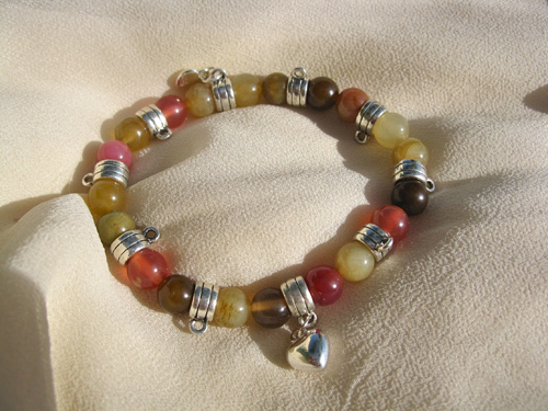 Love charm bracelet ~ jade