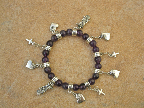 Love charm bracelet ~ mystical amethyst