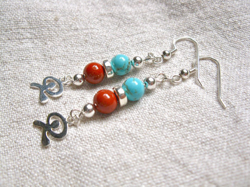 Indalo earrings ~ a jewellery gift for luck + protection