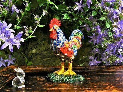 Spanish ceramic lucky Rooster figurine ~ Raul