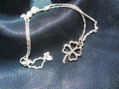 Lucky clover charm necklace