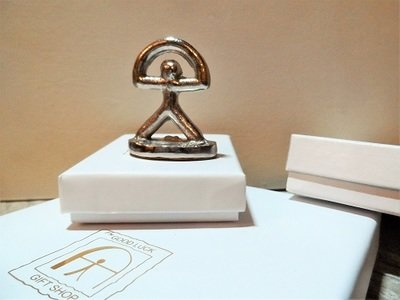 Lucky Indalo statuette ~ silver, classic, small