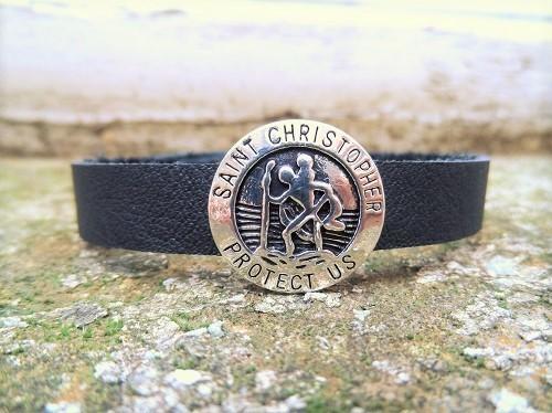 St Christopher bracelet for safe travels
