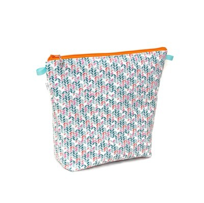 Knit Stitch in Aqua - Tall Wedge
