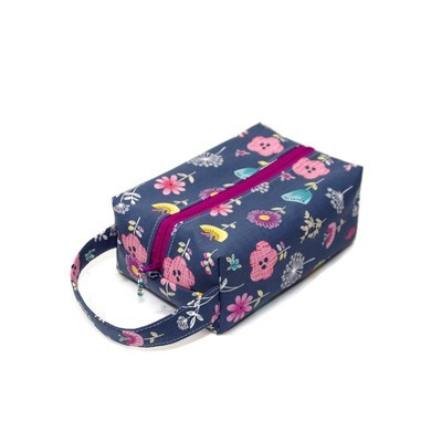 Botanical in Grey - Regular Box Bag