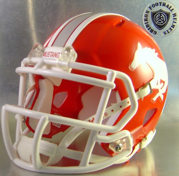 Denver City Mustangs 2014-2015 (HS) (TX) - mini-helmet