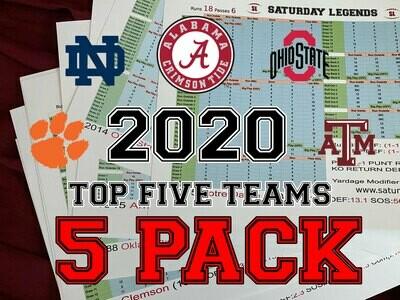 2020 Top 5 Teams pack