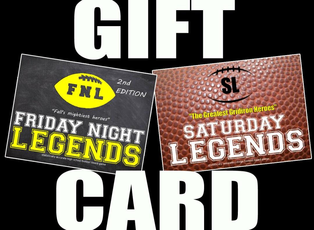 Legends Gift Card