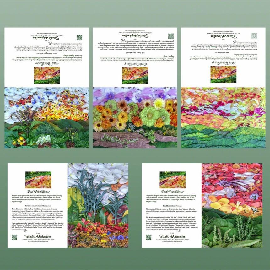 Petal Pointillism Card Set #1