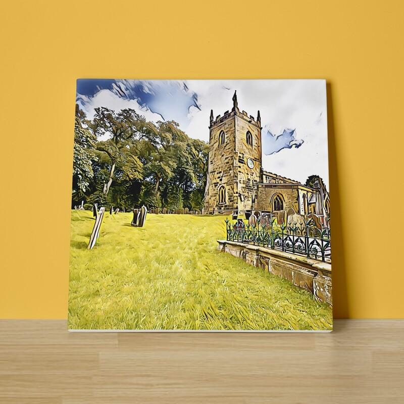 A Country Churchyard Canvas Print