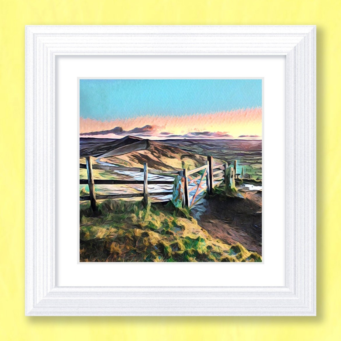 Mam Tor Sunset Art Print