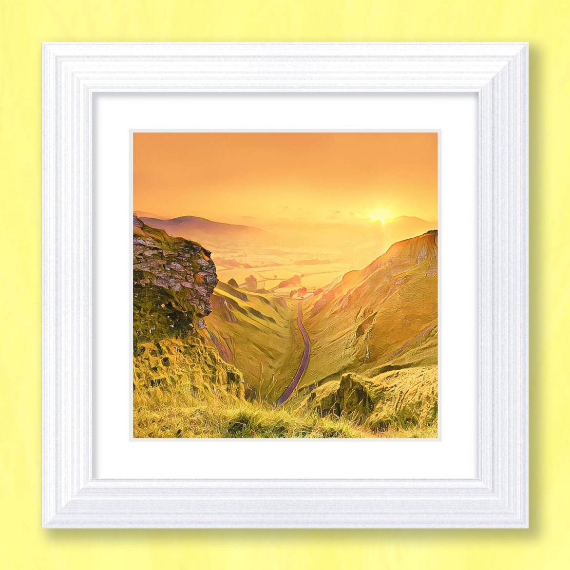 Winnats Pass Sunrise Art Print