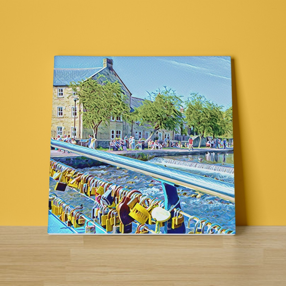 Bakewell Love Locks Canvas Print